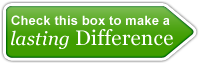Check this box to make a lasting difference